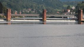 Tama na Neckar rzece Heidelberg, stanu Baden-WÃ ¼ rttemberg, Niemcy zbiory
