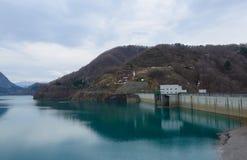 Tamagawa dam (Lake Hosen) Stock Photo
