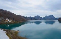 Tamagawa dam (Lake Hosen) Stock Images