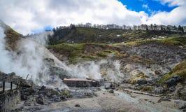 Tamagawa-heiße Quelle in Akita, Japan lizenzfreie stockfotos