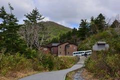 Tamagawa-heiße Quelle in Akita, Japan stockbild