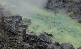 Tamagawa-heiße Quelle in Akita, Japan lizenzfreies stockfoto
