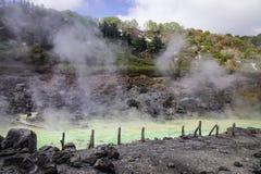Tamagawa varm vår i Akita, Japan Arkivbild