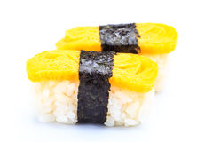 Tamago nigiri.Japan food Royalty Free Stock Image