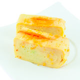 Tamago nigiri yaki  is sushi using an egg Royalty Free Stock Photos