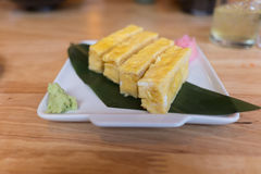 Tamago (Sweet Egg) Sushi Stock Photography