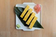 Tamago (Sweet Egg) Sushi Royalty Free Stock Photo