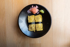 Tamago (Sweet Egg) Sushi Stock Images
