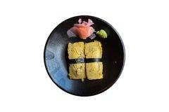 Tamago (Sweet Egg) Sushi Stock Photos