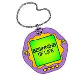 Tamagotchi pets o jogo do bolso Começo da vida Objeto em um fundo branco ilustração stock