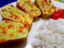 Tamagoyaki Arkivfoto