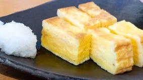 Tamagoyaki Japanese rolled egg roll royalty free stock image