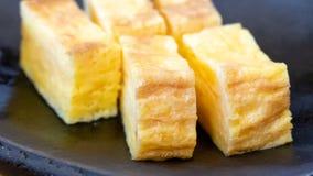Tamagoyaki Japanese rolled egg roll royalty free stock photography