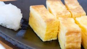 Tamagoyaki Japanese rolled egg roll stock photos