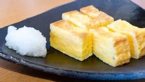 Tamagoyaki Japanese rolled egg roll stock photography