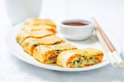 Tamagoyaki. Korean egg rolls Royalty Free Stock Photography