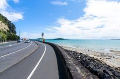 Tamaki Drive que está situada en Auckland, Nueva Zelanda Foto de archivo libre de regalías