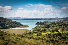 Tamaki Strait i Auckland royaltyfria bilder