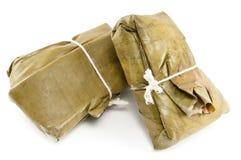 Tamale, alimento tradizionale da America Latina Fotografia Stock Libera da Diritti