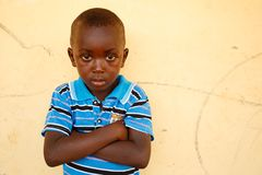 TAMALE, GHANA � MARCH 22: Unidentified young African boy  pose a Stock Photo