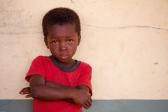 TAMALE, GHANA � MARCH 22: Unidentified young African boy  pose w Stock Photo