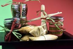 Tamale jedzenia prezent fotografia stock