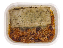 Tamale with Rice and Beans Stock Photos