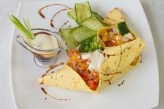 Tamale z piec warzywami Zdjęcia Stock