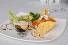 Tamale z piec warzywami Zdjęcia Royalty Free