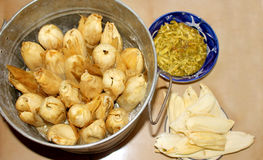 Tamales, μεξικάνικα τρόφιμα για την ημέρα Candlarias στοκ εικόνα