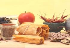 Tamales et épices Image libre de droits