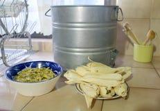 Tamali, alimento messicano per il giorno di Candlarias Fotografia Stock Libera da Diritti