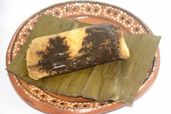 Tamali messicani tradizionali dagli stati del Chiapas e di Oaxaca per la celebrazione di Candelaria Day fotografie stock