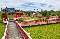 """Taman Rekreasi Tasik Melati, Perlis, Malaysia. Tasik Melati is a wetland with its wild plant locally known as """"kercit Stock Photos"""