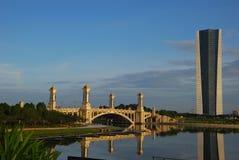 Taman Seri Empangan, Putrajaya, Malaysia. View of Putrajaya,  is the federal administrative of Malaysia from Taman Seri Empangan Royalty Free Stock Images