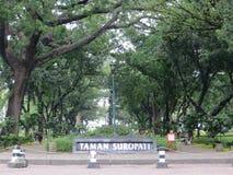 Taman Suropati Menteng, Dżakarta Zdjęcia Stock