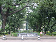 Taman Suropati Menteng, Jakarta. Public park Stock Photos