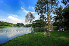 Taman Tasik Permaisuri (parco del lago) Fotografia Stock