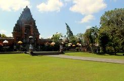 Taman ujung bali. Garden and entrance to temple at taman ujung bali Royalty Free Stock Photos