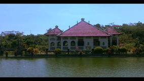 Taman ujung palace Bali stock video footage