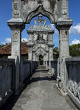 Taman Ujung Soekasada vattenslott royaltyfri bild