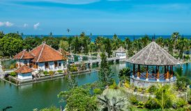Taman Ujung, Water Palace. Travel and architecture background. Indonesia, Bali island stock photography