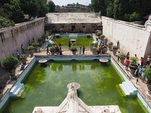 taman vatten för slottsari royaltyfria bilder