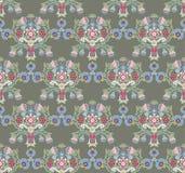 Tamanco sem emenda do verão floral no verde Imagem de Stock Royalty Free