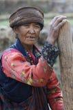 Tamang妇女, Langtang,尼泊尔 免版税库存照片