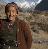 Langtang National Park, Nepal, Tamang Woman in Himalaya Royalty Free Stock Photography