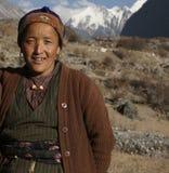 Langtang National Park, Nepal, Tamang Woman in Himalaya. Nepal, Langtang Region, Portrait of a Tamang Woman in the Himalaya Royalty Free Stock Photography