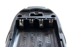 Tamanho aaa do soquete da bateria alcalino no isolado Imagem de Stock Royalty Free