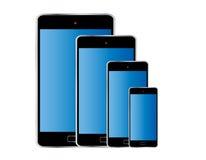 Tamanho diferente isolado do telefone cor esperta Imagem de Stock Royalty Free
