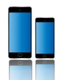 Tamanho diferente isolado do telefone cor esperta Fotos de Stock